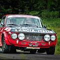 Red And Black Lancia Fulvia by Alain De Maximy