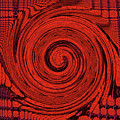 Red And Black Swirl - Modern/contemporary Painting by Merton Allen