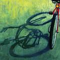 Red And Green - Bike Art by Linda Apple