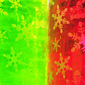 Red And Green With A Snowflake Pattern by Richard Henne