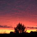 Red And Orange June Dawn Sky by Kent Lorentzen