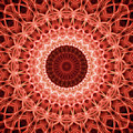 Red And Orange Mandala by Jaroslaw Blaminsky