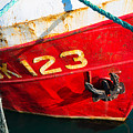 Red And White Boat Detail by Matthias Hauser