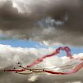Red And White Ribbon by Angel  Tarantella