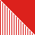 Red And White Triangles by Linda Woods