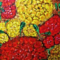 Red And Yellow Garden by Sarah Loft