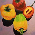 Red And Yellow Peppers by Ada Astacio