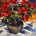 Red Anemones by Sue Wales
