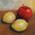 Red Apple And Lemons by Torrie Smiley