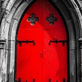 Red Arched Door by Cate Franklyn