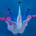 Red Arrows At Airbourne 2010 by Chris Lord