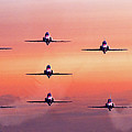 Red Arrows At Dawn by Chris Lord