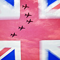 Red Arrows Flag by Ray Hydes