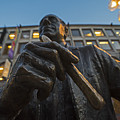 Red Auerbach Chilling At Fanueil Hall by Toby McGuire