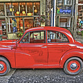 Red Morris Minor by Darrel Giesbrecht