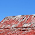 Red Barn And Blue Sky- Fine Art by KayeCee Spain