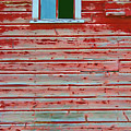 Red Barn Broken Window by Randall Royter