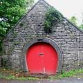 Red Barn Door In Ireland by Jeanette Oberholtzer
