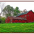 Red Barn In Ohio by Joan  Minchak