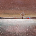 Red Barn In Snow by Toni Grote
