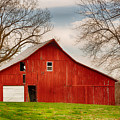 Red Barn In The Blue Sky by Terri Morris