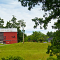Red Barn In Upper  New York State. by Lynne Albright