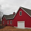 Red Barn On A Grey Day by Bill Driscoll