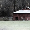 Red Barn On The Drive by Lkb Art And Photography