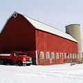 Red Barn Red Truck by Laurie With