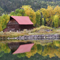 Red Barn Reflections by Constance Woods