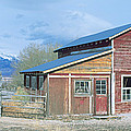 Red Barn, Route 50, Nevada by Panoramic Images