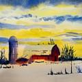 Red Barn Sunrise by Linda Emerson
