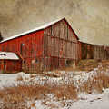 Red Barn White Snow by Larry Marshall
