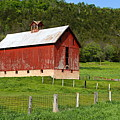 Red Barn With Cupola by Larry Ricker
