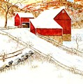 Red Barns by George Lambert