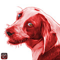Red Beagle Dog Art- 6896 -wb by James Ahn