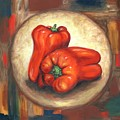 Red Bell Peppers by Linda Mears