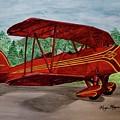 Red Biplane by Megan Cohen