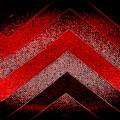 Red Black Chevron by Len-Stanley Yesh