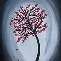 Red Black Tree Painting by Prajakta P