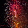 Red Blazing Fireworks by Garry Gay