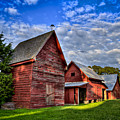 Red Blue And Green Barns At Windsor Castle by Williams-Cairns Photography LLC