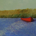 Red Boat - Plum Island Basin by Rf Hauver