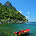 Red Boat- St Lucia by Chester Williams