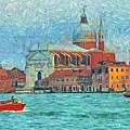 Red Boat Venice by Judy Coggin