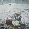 Red Boat Wreck Southampton by Martin Davey