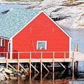 Red Boathouse by Kathleen Struckle