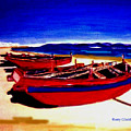 Red Boats by Rusty Gladdish
