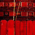 Red Brick And Sticks by Martin Brockhaus