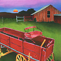 Red Buckboard Wagon by Stephen Anderson